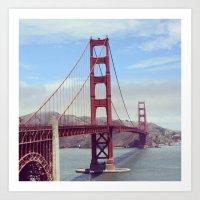 Golden Gates Bridge, San Francisco Art Print