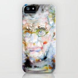 SAMUEL BECKETT - watercolor portrait.7 iPhone Case