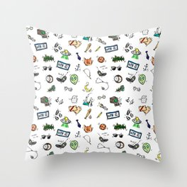 Spooky Doodles Throw Pillow