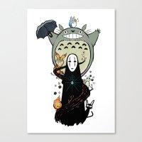 ghibli Canvas Prints featuring Ghibli by AlexisMorand