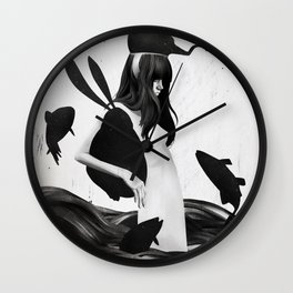 A Mile Away From Anywhere Wall Clock