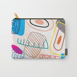 Drawing illustration abstract pen marks.doodle background with semicircle pattern.No.15 Carry-All Pouch