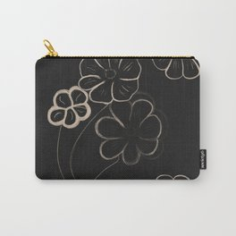Light Sepia Flower Pattern #1 #drawing #decor #art #society6 Carry-All Pouch