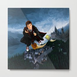 10th Doctor who lost in the wizard World iPhone 4 4s 5 5s 5c, ipod, ipad, pillow case and tshirt Metal Print