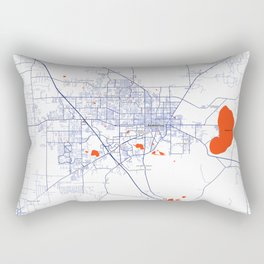 FanMap | NCAA SEC Florida #6 Rectangular Pillow