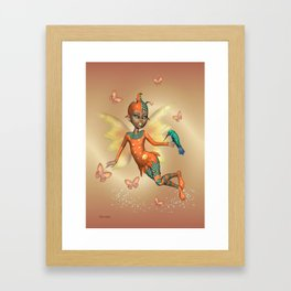 Pixie .. fantasy fairy art Framed Art Print