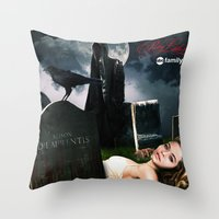 pretty little liars Throw Pillows featuring Pretty Little Liars Fantasy Ad by Erwan Khatib