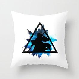 Toshiro - Blue Style Throw Pillow
