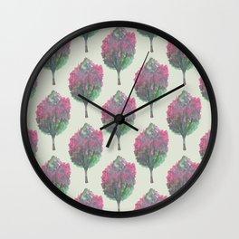 crepe myrtle pattern Wall Clock