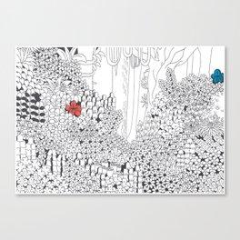 Drawing Blanks Canvas Print
