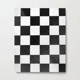 Dirty checkers Metal Print