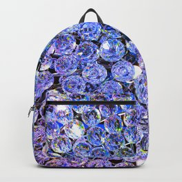 Blue Purple Crystals Backpack