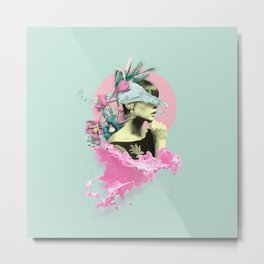 Splashy Dame Metal Print