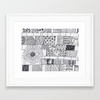 calendar Framed Art Prints featuring Bloom Calendar by sinonelineman