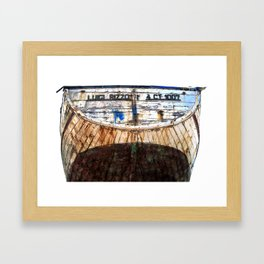 Old Wreck in Acitrezza on the Isle of Sicily Framed Art Print