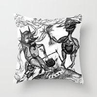 wild things Throw Pillows featuring Wild Things by intermittentdreamscapes