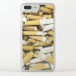 Cigarette butts dirty Clear iPhone Case