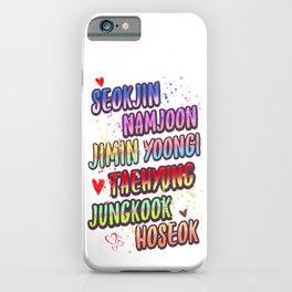 BTS name deisgn iPhone Case