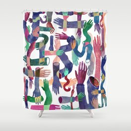 Color Hands Shower Curtain