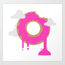 Cute Donut Art Print