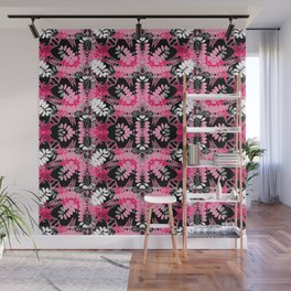 Black Pink Tribal Pattern Wall Mural