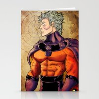 magneto Stationery Cards featuring magneto by Brian Hollins art