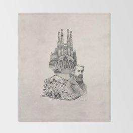 Tribute to Gaudi Throw Blanket