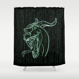 Wyrm in the Shell Shower Curtain