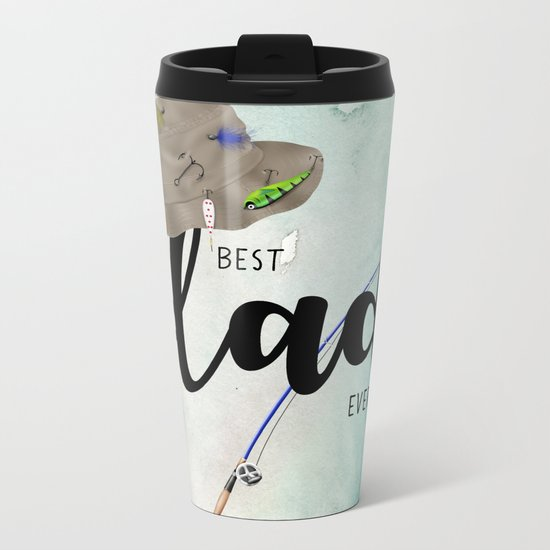 Best dad #6 ever | Father's day Metal Travel Mug