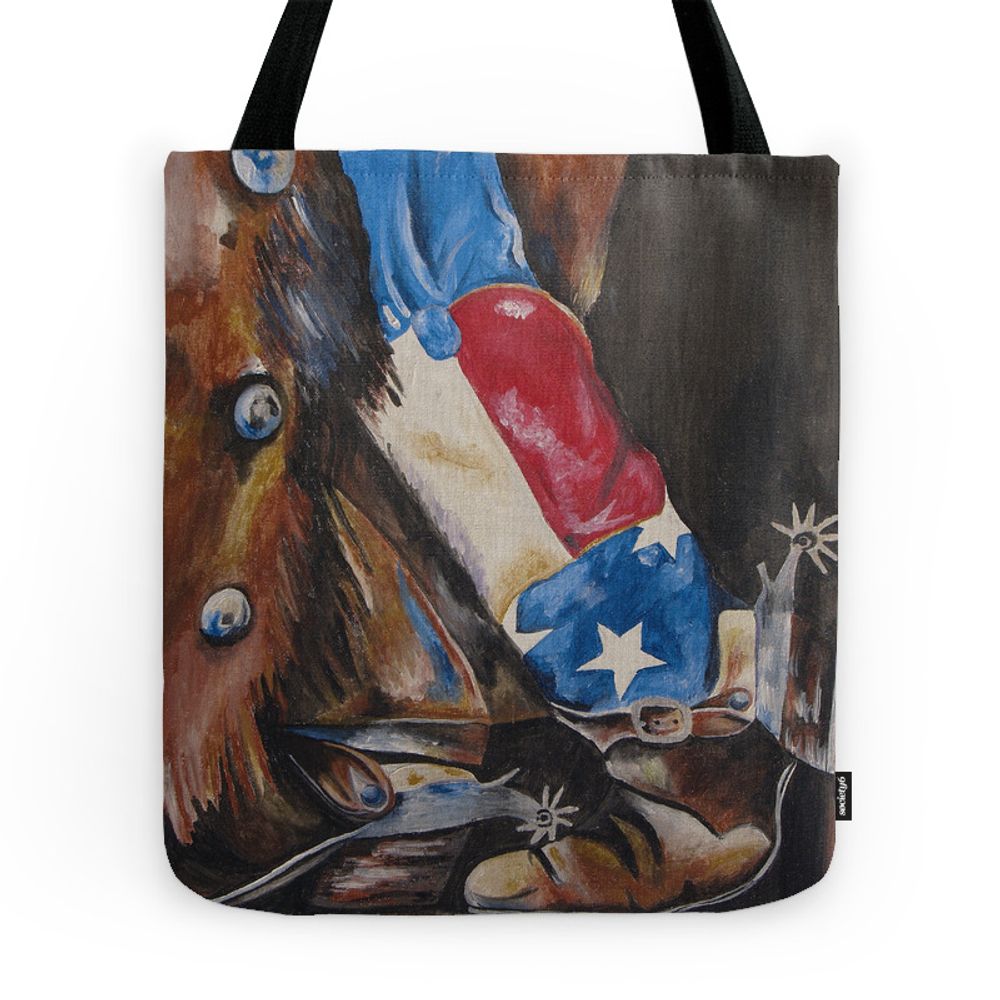 Red, White & Boot Tote Purse by ktstudios (TBG7935505) photo