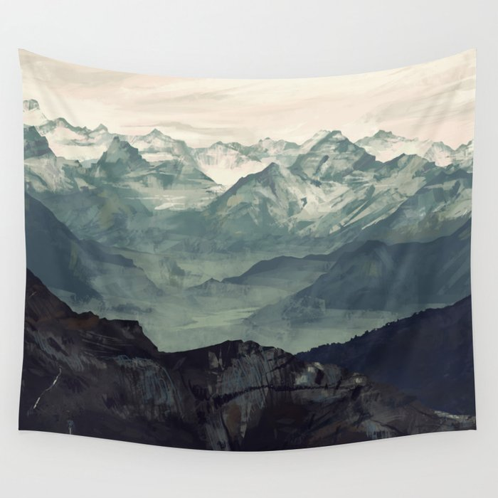 Wall Tapestry 330 Mountain Fog wall tapestry by Micaela Dawn