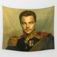replaceface Wall Tapestries featuring Leonardo Dicaprio - replaceface by replaceface