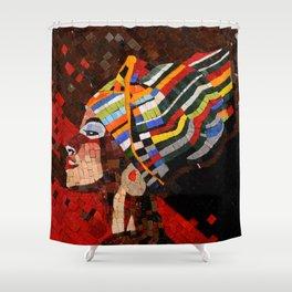 AFRICA QUEEN Shower Curtain