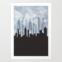 atlanta Art Prints featuring ATLANTA by Connor Christensen