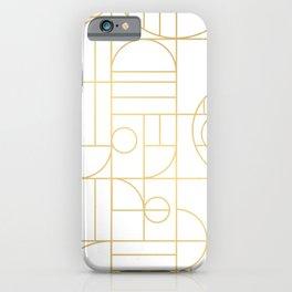 Minimalist Mid Century Modern Gold Pattern iPhone Case