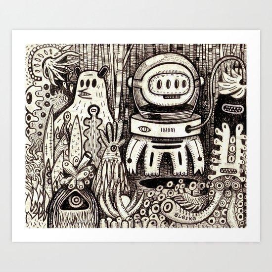 OGM GARDEN - La visite Art Print