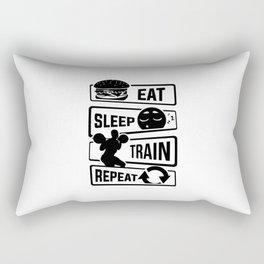 Eat Sleep Train Repeat - Fitness Bodybuilder Power Rectangular Pillow