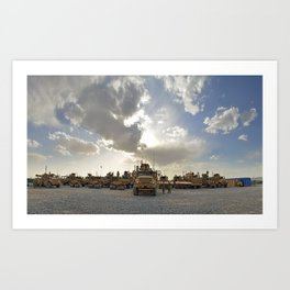 Route Clearance Platoon Army Art Print