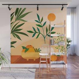Bohemian Summer / Landscape Illustration Wall Mural