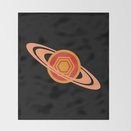 Saturn's Hexagon Throw Blanket
