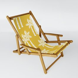 Palm Tree Pattern Mustard Yellow Sling Chair