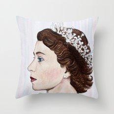 Elizabeth II Throw Pillow