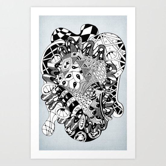 The heart of things Art Print