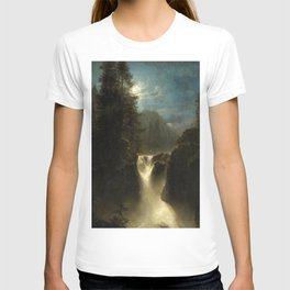 Waterfall in the Italian Countryside by Oswald Achenbach T-shirt
