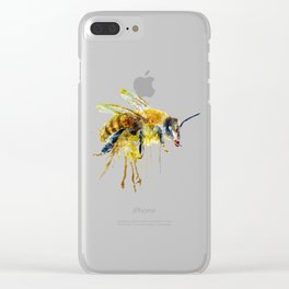 Watercolor Bee Clear iPhone Case