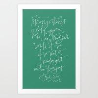 mockingjay Art Prints featuring Mockingjay by Jayne C.