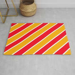 TEAM COLORS ONE YELLOW GOLD,RED,WHITE Rug