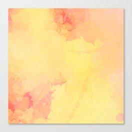 Modern Bright Yellow Abstract Art Canvas Print