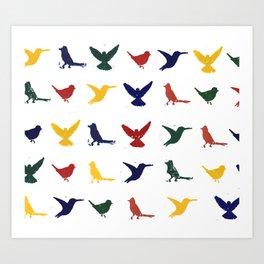 Silhouettes - Pattern Art Print