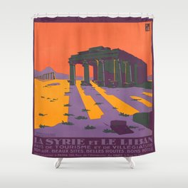 Vintage poster - Syria Shower Curtain